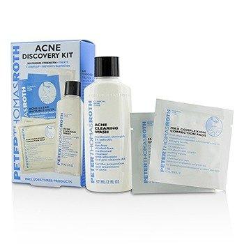 פיטר תומס רות' Acne Discovery Kit: Acne Clearing Wash 57ml + Max Complexion Correction Pads 2pads + Acne-Clear Invisible Dots 24dots  3pcs