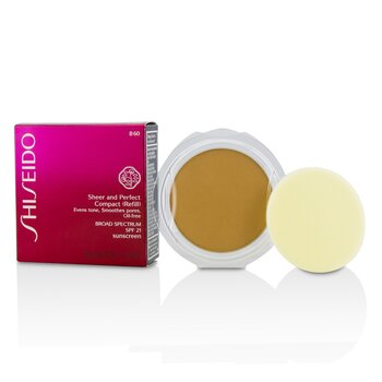 Shiseido Sheer & Perfect Compact Foundation SPF 21 (Refill) - # B60 Natural Deep Beige  10g/0.35oz