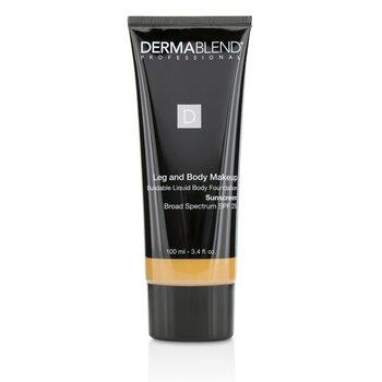 Dermablend Leg and Body Make Up Buildable Liquid Body Foundation Sunscreen Broad Spectrum SPF 25 - #Medium Bronze 45N  100ml/3.4oz