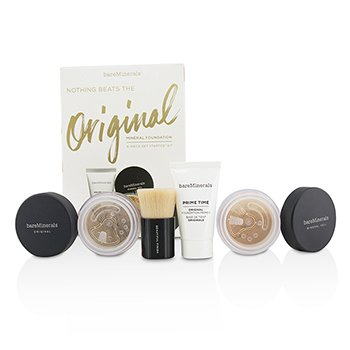 BareMinerals Get Started Kit Base Mineral - # 18 Medium Tan  4pcs