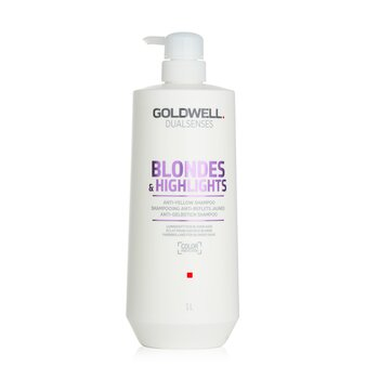 Goldwell Dual Senses Blondes & Highlights Champú Anti-Amarillo (Luminosidad Para Cabello Rubio)  1000ml/33.8oz