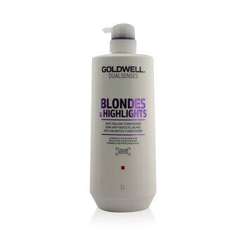Goldwell بلسم مضاد للاصفرار Dual Senses Blondes & Highlights (لمعان للشعر الأشقر)  1000ml/33.8oz