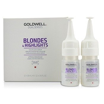 Goldwell Serum do włosów blond i pasemek Dual Senses Blondes & Highlights Color Lock Serum (Luminosity For Blonde Hair)  12x18ml/0.6oz