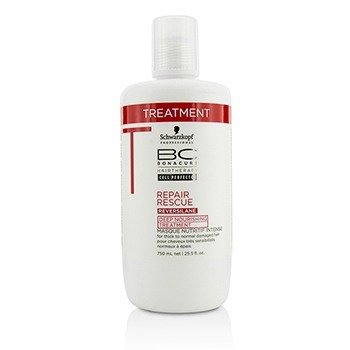 Schwarzkopf BC Repair Rescue Reversilane Deep Nourishing Treatment (For Thick to Normal Damaged Hair)  750ml/25.5oz