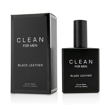 Clean Black Leather Eau De Toilette Spray  100ml/3.4oz