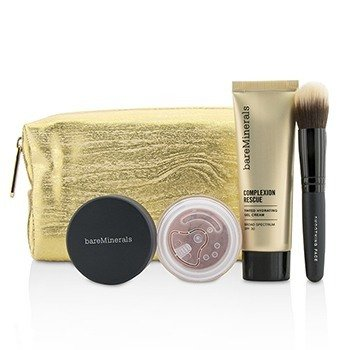 BareMinerals Set Take Me With You Complexion Rescue Try Me - # 03 Buttercream  3pcs+1bag