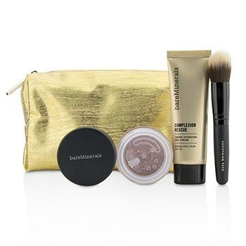 ベアミネラル Take Me With You Complexion Rescue Try Me Set - # 07 Tan  3pcs+1bag