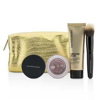 ベアミネラル Take Me With You Complexion Rescue Try Me Set - # 09 Chestnut  3pcs+1bag