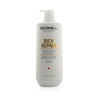 Goldwell Dual Senses Rich Repair Champú Restaurador (Regeneración Para Cabello Dañado)  1000ml/33.8oz