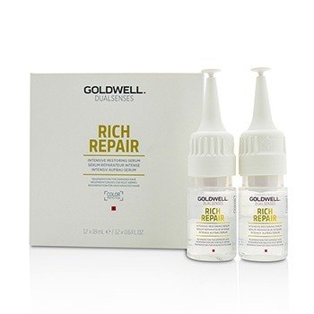 Goldwell Dual Senses Rich Repair Suero Restaurador Intensivo (Regeneración Para Cabello Dañado)  12x18ml/0.6oz