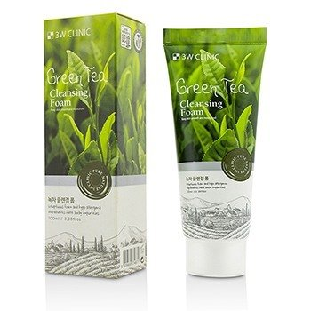 3W Clinic Cleansing Foam - Green Tea  100ml/3.38oz