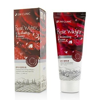 3W Clinic Cleansing Foam - Rose Water  100ml/3.38oz