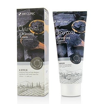 3W Clinic Cleansing Foam - Charcoal  100ml/3.38oz