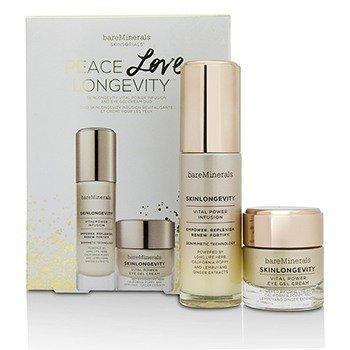 BareMinerals Skinlongevity Vital Power Infusion & Eye Gel Cream Duo Set: Vital Power Infusion 30ml + Vital Power Eye Gel Cream 15g  2pcs