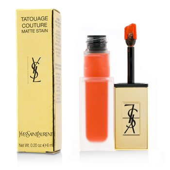 Yves Saint Laurent  Tatouage Couture Mancha Mate - # 2 Crazy Tangerine  6ml/0.2oz