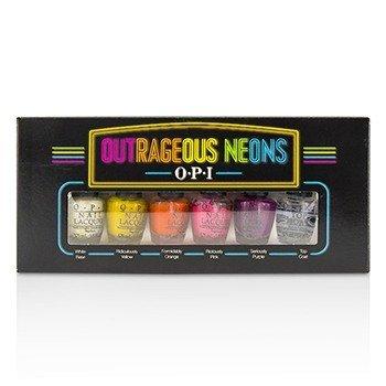 O.P.I Outrageous Neons Mini Nail Lacquer Set  6pcs