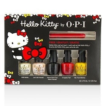 O.P.I Hello Kitty Mini Lacas de Uñas Friend Pack  6pcs