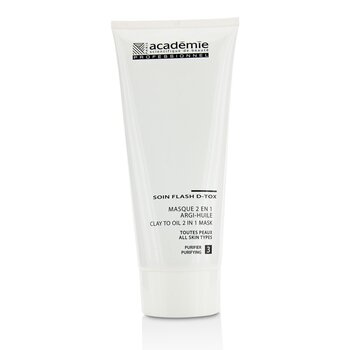 Academie Clay To Oil 2 in 1 Mask (For ALL Skin Types)  200ml/6.7oz