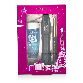 Lancome Hypnose Doll Eyes Set: 1x Hypnose Doll Eyes Mascara + 1x Mini Le Crayon Khol + 1x Bi Facil  3pcs