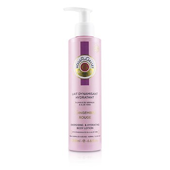 Roge & Gallet Gingembre Rouge Energising & Hydrating Body Lotion (with Pump)  200ml/6.6oz