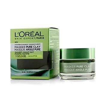 L'Oreal Skin Expert Pure Clay Маска - Очищает и Матирует  50ml/1.7oz