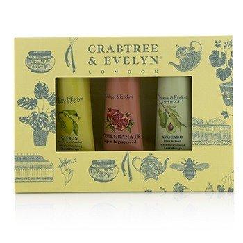 Crabtree & Evelyn Botanicals Hand Therapy Set (1x Citron, Honey & Coriander, 1x Pomegranate, Argan & Grapeseed, 1x Avocado, Olive & Basil)  3x25g/0.9oz
