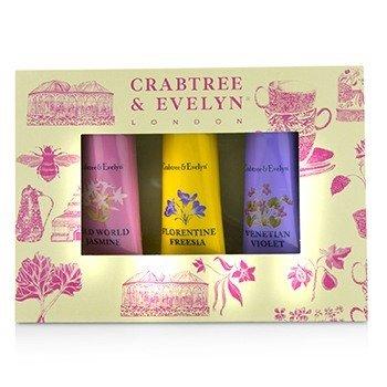Crabtree & Evelyn Heritage Hand Therapy Set (1x Old World Jasmine, 1x Florentine Freesia, 1x Venitian Violet)  3x25g/0.9oz
