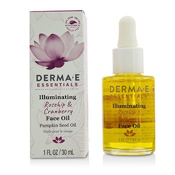 Derma E Essentials Illuminating Rosehip & Cranberry Face Oil  30ml/1oz