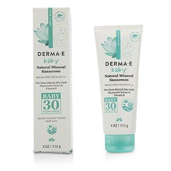 Derma E Натуральное Минеральное Солнцезащитное Средство SPF 30 - для Малышей  113g/4oz