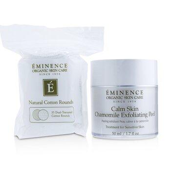 Eminence Calm Skin Chamomile Peel Exfoliante (Con 35 Algodones Con Textura Dual)  50ml/1.7oz