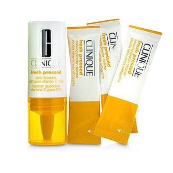 クリニーク Fresh Pressed 7-Day System with Pure Vitamin C (1x Daily Booster 8.5ml + 7x Renewing Powder Cleanser 0.5g)  -