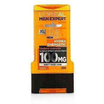 לוריאל Men Expert Shower Gel - Hydra Energetic (For Body, Face & Hair)  300ml/10.1oz
