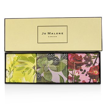 Jo Malone Soap Coffret : English Pear & Fressia / Blackberry & Bay / Red Roses  3x100g/3.5oz