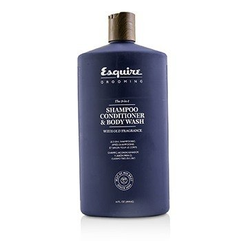 Esquire Grooming The 3-in-1 Shampoo, Conditioner & Body Wash  414ml/14oz