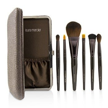 Laura Mercier Brush Up Luxe Brush Collection  6pcs+1case