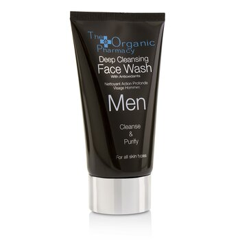 The Organic Pharmacy Men Deep Cleansing Face Wash - Cleanse & Purify  75ml/2.5oz