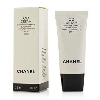 Chanel CC Cream Super Active Complete Correction SPF 50 # 10 Beige  30ml/1oz