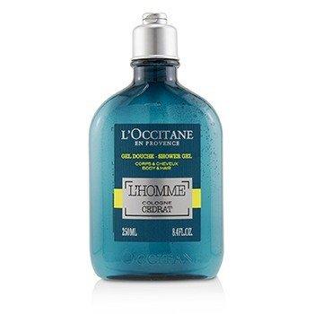 L'Occitane L'Homme Cologne Cedrat Shower Gel Body & Hair  250ml/8.4oz