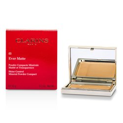 Clarins Ever Matte Shine Control Mineral Powder Compact - # 03 Transparent Warm  10g/0.35oz