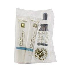 Eminence Clear Skin Starter Set (For Acne Prone Skin)  4pcs+1bag