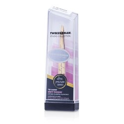 Tweezerman Slant Tweezer Ultra Precision (Tin Coated) (Studio Collection)