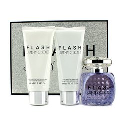 Jimmy Choo Flash Coffret: Eau De Parfum Spray 100ml/3.3oz + Body Lotion 100ml/3.3oz + Shower Gel 100ml/3.3oz  3pcs