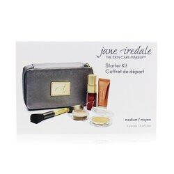 Jane Iredale Starter Kit (6 Pieces): 1xPrimer & Brighter, 1xLoose Mineral Powder, 1xMineral Foundation, ... - # Medium  6pcs