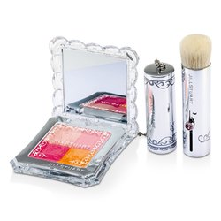 Jill Stuart Mix Blush Compact N (4 Color Blush Compact + Brush) - # 02 Fresh Apricot  8g/0.28oz