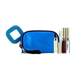 Kanebo Lip Gloss Set With Blue Cosmetic Tas (3xMode Gloss, 1xTas Kosmetik)  3pcs+1bag