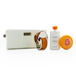 Bvlgari Omnia Indian Garnet Coffret: Eau De Toilette Spray 65ml/2.2oz + Body Lotion 75ml/2.5oz + Soap 75g/2.5oz + Pouch  3pcs+1pouch