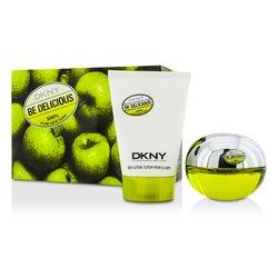DKNY Be Delicious مجموعة: أو دو برفام سبراي 50مل/1.7أوقية + لوشن الجسم 100مل/3.4أوقية  2pcs