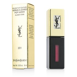 Yves Saint Laurent Rouge Pur Couture Vernis A Levres Color Brillo Agua - #201 Dewy Red  6ml/0.2oz