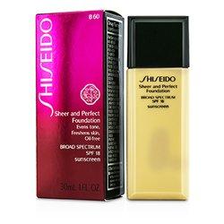 Shiseido Sheer & Perfect Foundation SPF 18 - # B60 Natural Deep Beige  30ml/1oz
