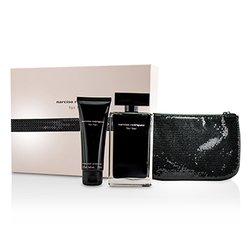 Narciso Rodriguez For Her Coffret: Eau De Toilette Spray 100ml/3.3oz + Body Cream 75ml/2.6oz + Pouch  2pcs+1pouch
